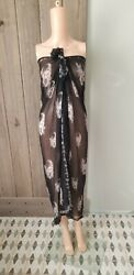 Alexander Mcqueen Large Silk Scarf Cover Up Collectible