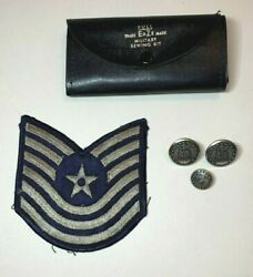 Us Air Force Master Sergeant Patch Waterbury Buttons Military Sewing Kit 5 Pc