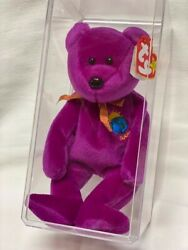 Beanie Baby Magenta Millennium With Ribbon And Special Earth Badge