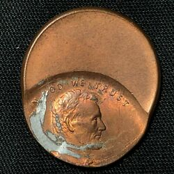 Error Lincoln Memorial Cent 50-60 Off-center Strike Mint State Condition