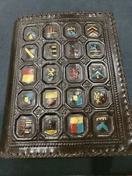 Vtg Leather Bible/book Cover Fomerz Italy For Large Parish Edition 12x9.5x2