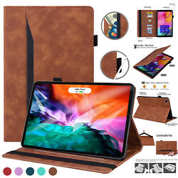 Leather Wallet Stand Case For Ipad 10.2 7/8th Gen Pro 11 12.9and039and039 Smart Sleep/wake
