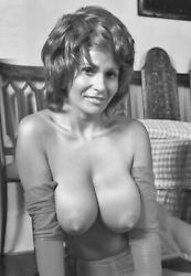 Vintage Photo 8.5x11andnbsp 18224 Busty Lovely Uschi Digart Posing