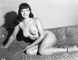Vintage Photo 8.5x11andnbsp 18233 Lovely Bettie Page Posing