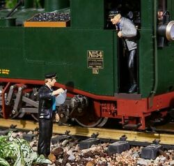 Pola G 122.5 Scale Two German Steam Engine Crew Worker Figures  331505