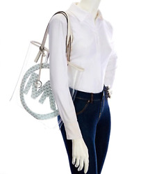 NWT Michael Kors the Michael bag Signature Large North South Clear Tote White $59.99