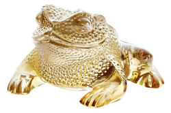 Lalique Crystal Gregoire Frog Gold Luster 10139400 Brand New In Box Save F/sh