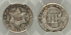 Beautiful 1851 Three-cent Uncirculated Silver Coin Pcgs Graded Ms65
