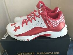 New Under Armour Mens Size 12 ClutchFit White Red Shoes box Sneakers 1250049 161 $55.00