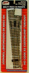 New Ho Atlas Custom Line 562 4 Manual Right Hand Turnout Code 83 Snap Track