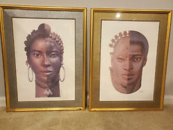 African American black art prints Duality The Mask