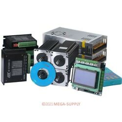 Cnc Kit 4 Axis 2.5nm Nema23 Stepper Motor Breakout Board With Display And Keypad