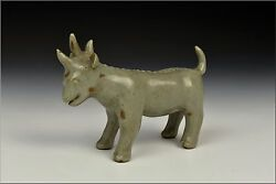 Chinese Song Dynasty Celadon Pottery Unicorn Statue