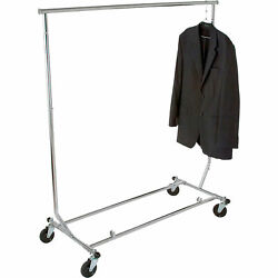 Econoco Collapsible Garment Rack - Chrome 65in. X 48in Model Rcs/2