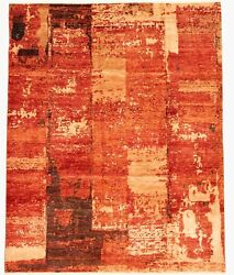 Modern Hand-knotted Carpet 8'6 X 10'10 Oriental Wool Area Rug