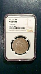 1871 Cc Seated Half Ngc Xf Rare Carson City Silver 50c Coin Priced To Sell