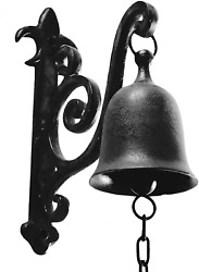 Deconoor Vintage Cast Iron Dinner Bell As Entry Door Bell Outside Hanging Decor