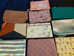 Lot of 10 Ipsy Glam Makeup Cosmetic Bags Zip Pouch Used $16.99