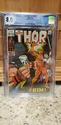 Thor 165 First Appearance Of Him Adam Warlock Cgc 8.0 White Pages