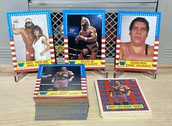1987 Topps Wwf Wrestling Complete Set 1-75 + Stickers 1-22 Graybeardcards