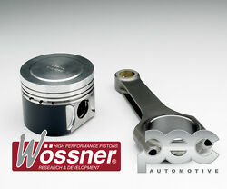 Wossner Low Comp Pistons + Pec Steel Connecting Rod Kit - Vw Corrado 2.0 16v 9a