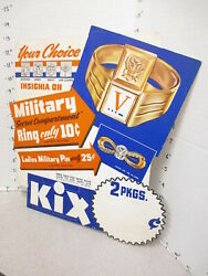 Lone Ranger 1941 Wwii Military Secret Compartment Premium Ring Cereal Box Sign