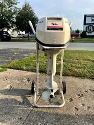 Outboard Engine 1966 Johnson Sea Horse 9 1/2 Hp Fuel Lines +tankmanual Clean