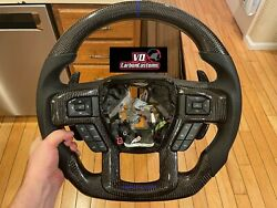 Ready To Ship Fits Ford Raptor F150 17-19 Carbon Fiber Oem Steering Wheel