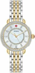 Michele Sidney Diamond Mother Of Pearl Dial Two Tone Ladies Watch Mww30b000002