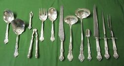 Charter Oak 13 Serving Pcs Rogers Silverplate Fabulous And Unusual Collection  Tc