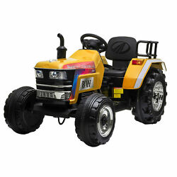 Jaxpety 12v Kids Ride On Tractor W/remote Control Electric Tractor Car 3-6 Years