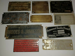 Vintage / Antique, Metal / Brass Signs For Buildings Etc Salvaged Collectible