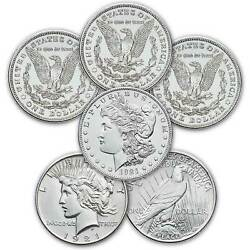 2021 Morgan And Peace Dollar Complete Set Of 6 {cc O D S P} Confirmed Presale