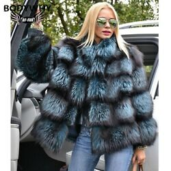 Woman Jackets Leather Plus Size Clothing Full Real Natural Fur Fox Coat