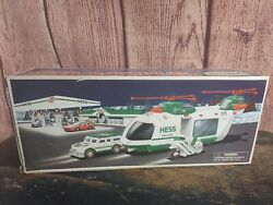 2001 Hess Truck Helicopter With Motorcycle And Cruiser. New In Box ☆