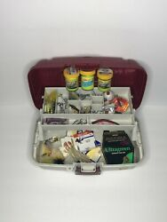 Plano Tackle Stuffed With Modern And Vintage Tackle Fishing Tackle Box Lures.