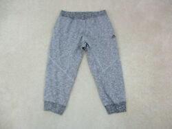 Adidas Pants Adult Extra Large Gray Spell Out Logo Sweat Pants Jogger Mens A07
