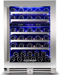 Bodega 24 Inch Wine Cooler56 Bottle Wine Refrigerator Dual Zone Built-in And F