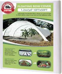 Flarmor Floating Row Cover - 10x50 Ft Fabric Blanket- Protects Outdoor Plants An