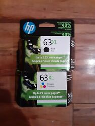 New Hp 63xl Black And Tri-color Genuine 2 Pack Combo. Exp March 2023 Free Shipping