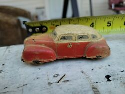 Vintage Rubber Auburn Woody Sedan. Antique Very Old Toy Collectable War Time Toy