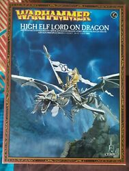 Games Workshop Warhammer High Elf Lord Dragon Princeoop With The Box Full