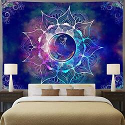 Ameyahud Mandala Tapestry Blue Starry Sky and Moon Tapestry Psychedelic Indian T
