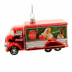 Holiday Ornaments Coca-cola Truck Glass Christmas Coke Is It Cc4151