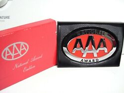 Vintage Nos 70s Aaa Auto Club Emblem Chrome Trunk Body Badge Gm Ford Chevy Part