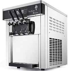 Vevor Commercial Ice Cream Machine 5.3 To 7.4gal Per Hour Soft Serve With Led Di