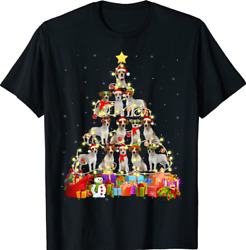 Funny Jack Russell Terrier Christmas Tree Pet Dog Lover Gift T Shirt Black S 4XL
