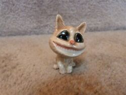 AWESOME Big Head Smiling Cheshire Cat Porcelain Figurine 2quot;