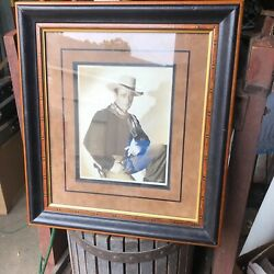 Vintage Autographed Photo Of John Wayne Greetings To Andy 8 X 10 Ex Christieandrsquos