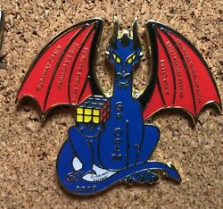 Georgia 2015 Odyssey of the Mind World Finals Pin Dragon with Rubik Cube